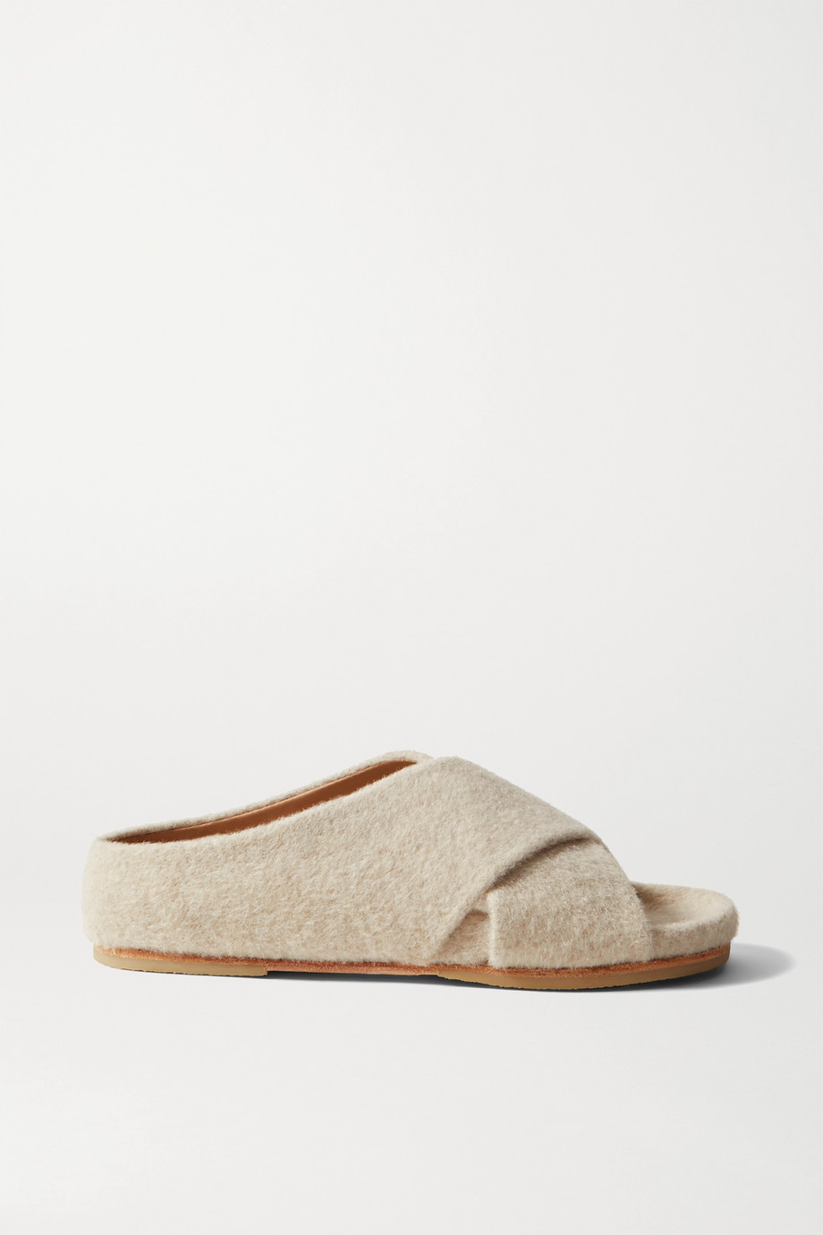 Lauren Manoogian Cross alpaca and wool-blend slides