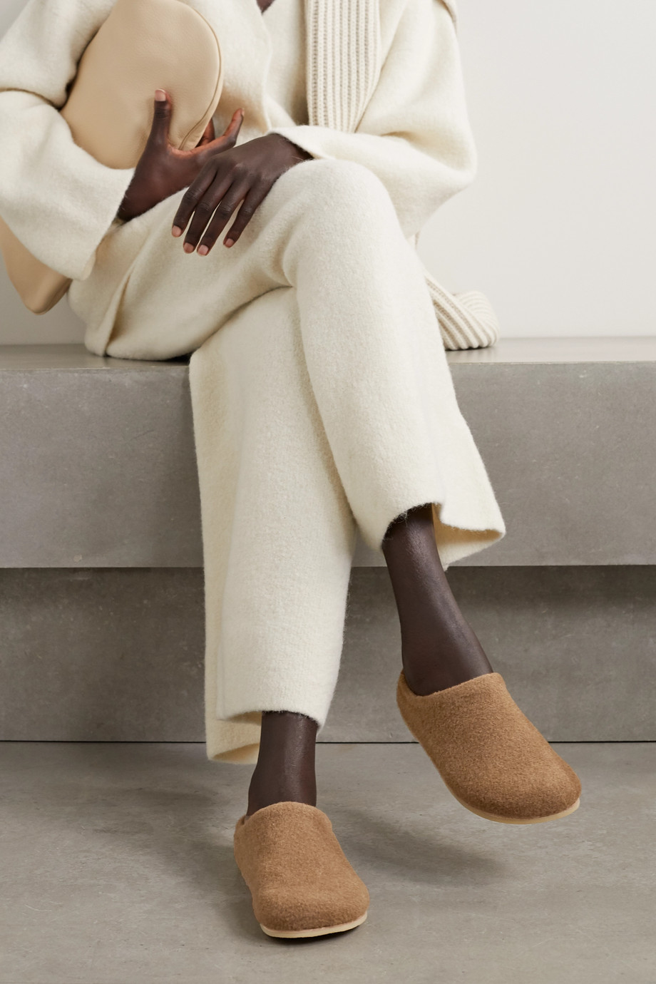 Lauren Manoogian Mono alpaca and wool-blend slippers