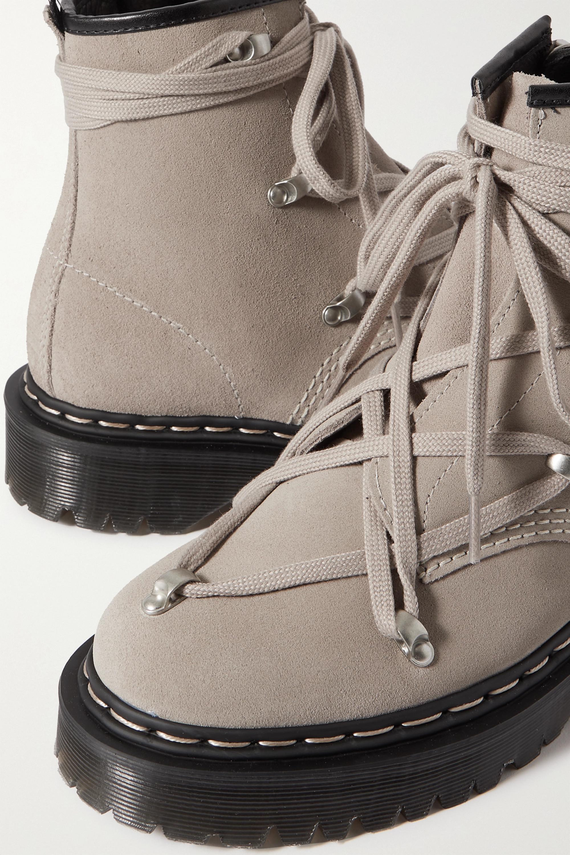 Rick Owens + Dr. Martens 1460 Bex suede ankle boots