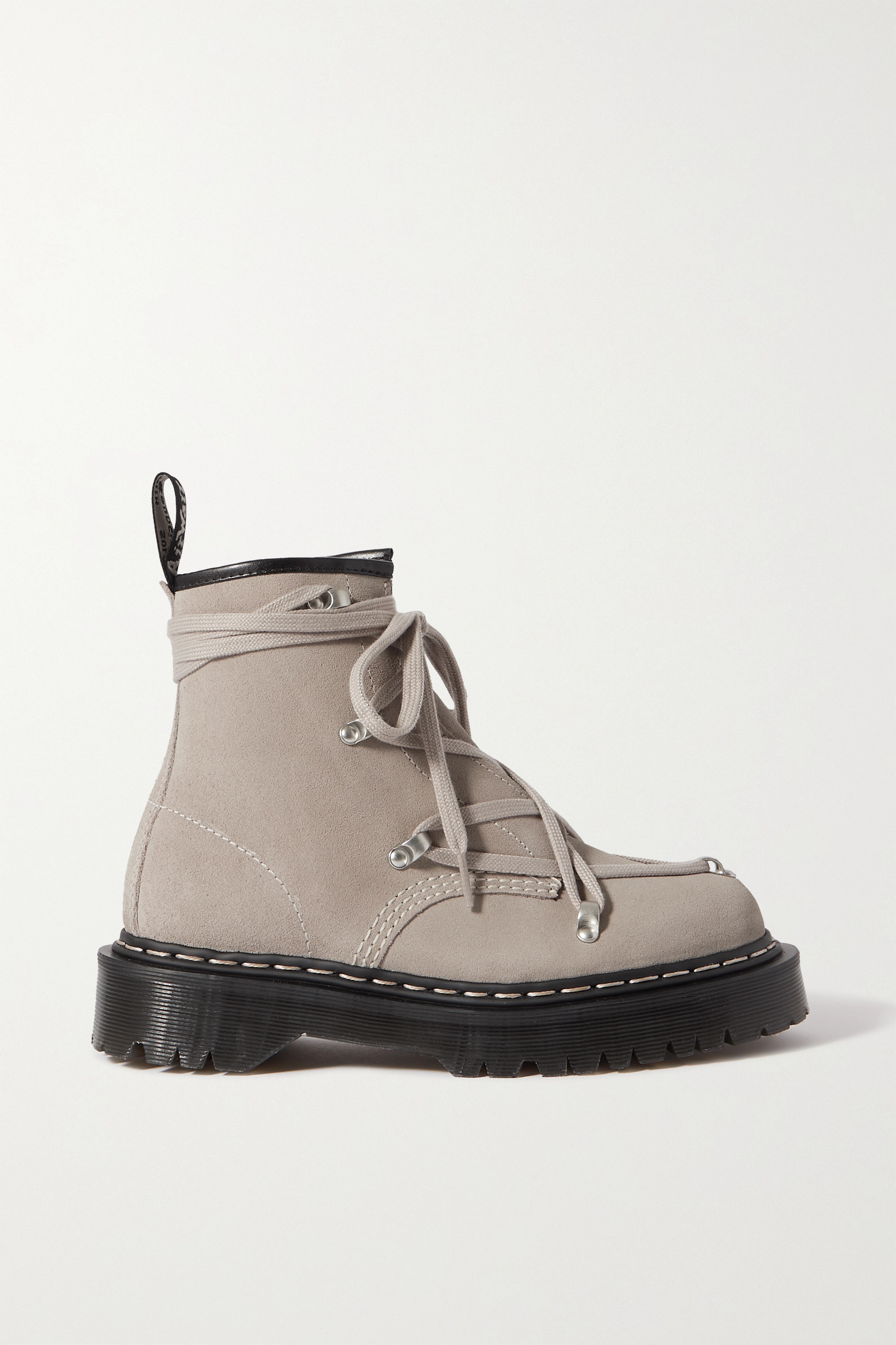 Rick Owens - + Dr. Martens 1460 Bex suede ankle boots