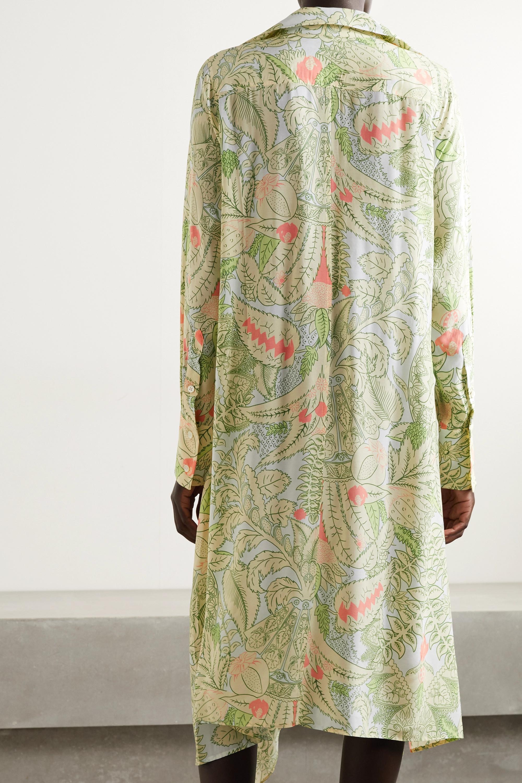 JW Anderson Asymmetric printed woven midi dress