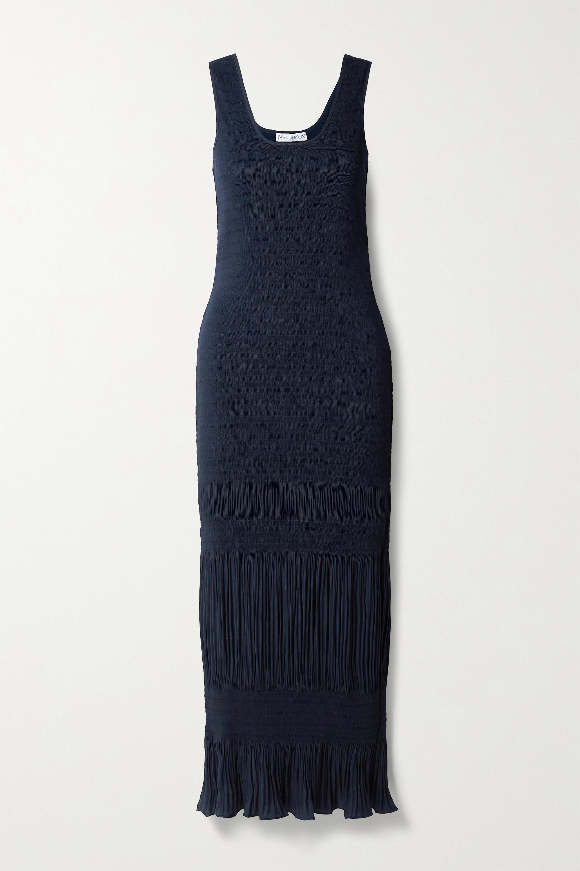 JW Anderson Shirred plissé-crepe maxi dress
