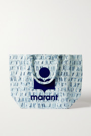 Isabel Marant Yenky oversized flocked tie-dyed canvas tote