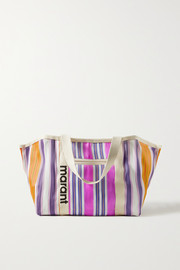 Isabel Marant Warden striped canvas tote