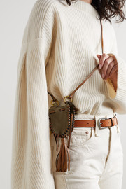 Isabel Marant Radjimi mini tasseled suede and leather bucket bag