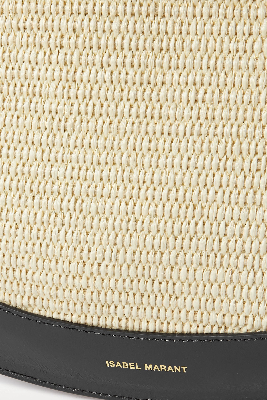Isabel Marant Moskan Schultertasche aus Raffiabast mit Lederbesätzen