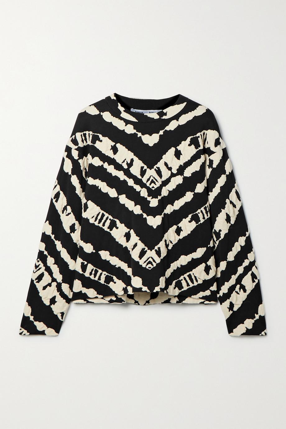 Proenza Schouler White Label Jacquard-knit top