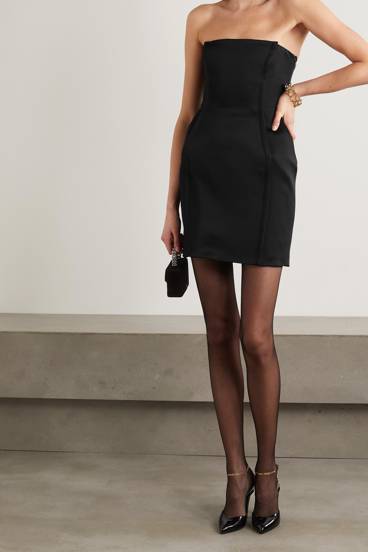 Versace Trägerloses Minikleid aus Crêpe