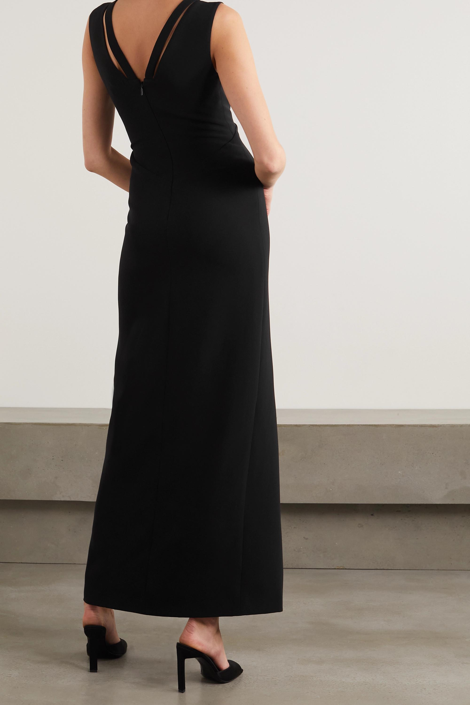 Versace Robe aus Seiden-Crêpe mit Cut-outs und Verzierungen