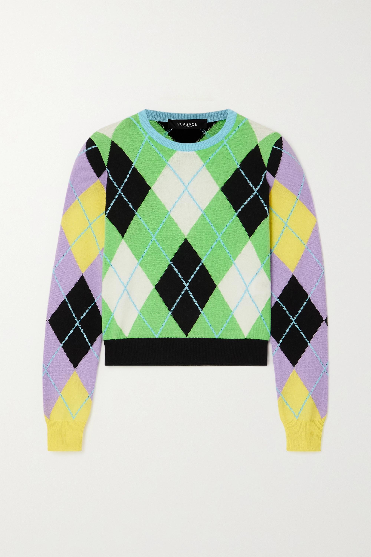 Versace Argyle cashmere sweater