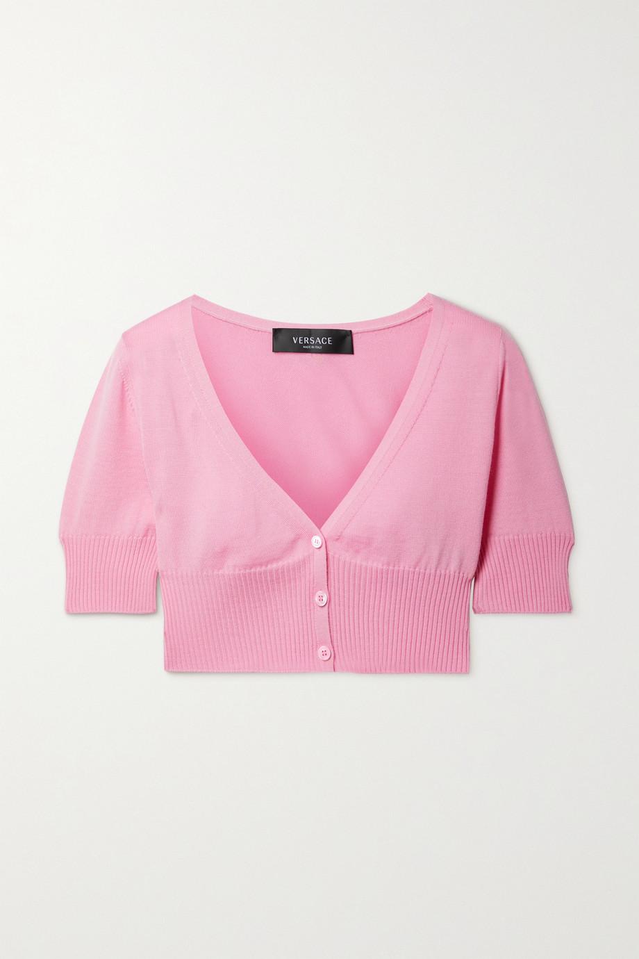 Versace Cropped wool cardigan