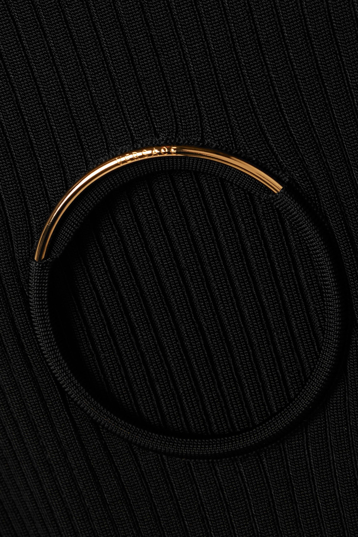 Versace Pullover aus Rippstrick mit Cut-out und Verzierung
