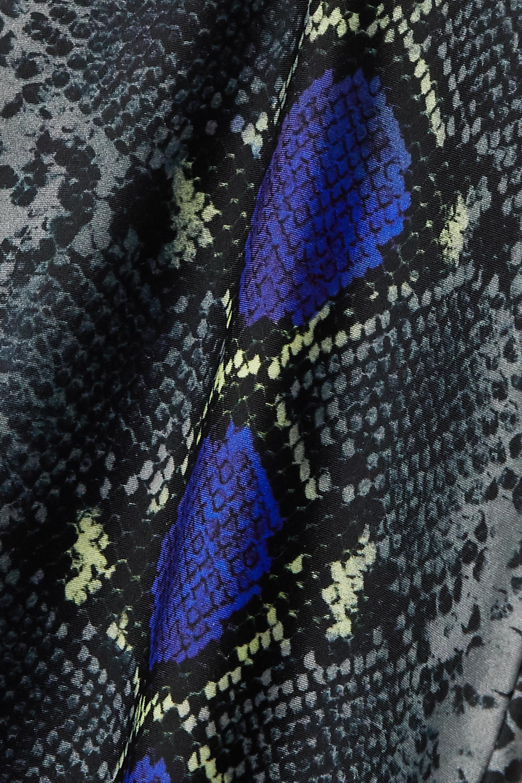 Versace Verkürzte Leggings aus Jersey mit Schlangenprint