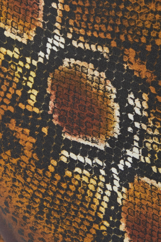 Versace Embellished snake-print crepe wide-leg pants