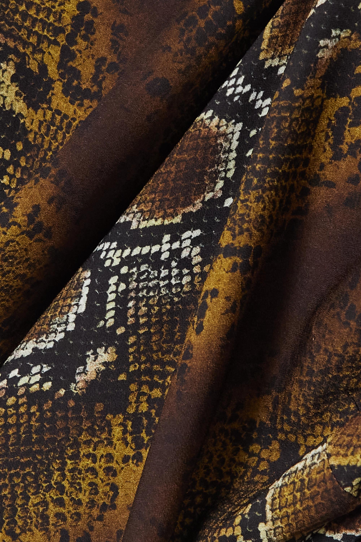 Versace Verkürztes Oberteil aus Stretch-Crêpe mit Schlangenprint