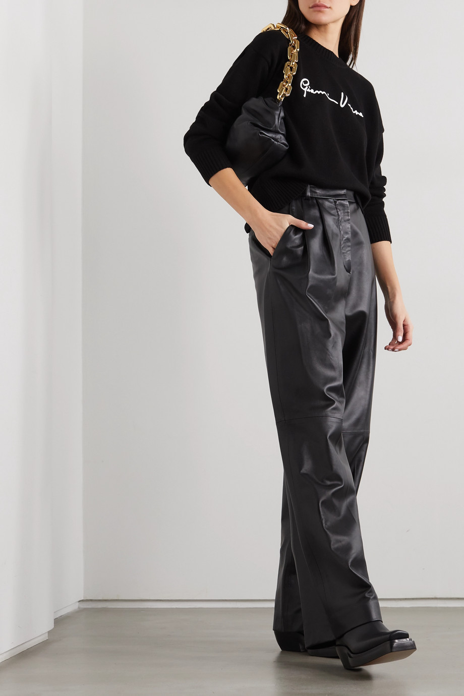 Versace Pull en coton à broderies