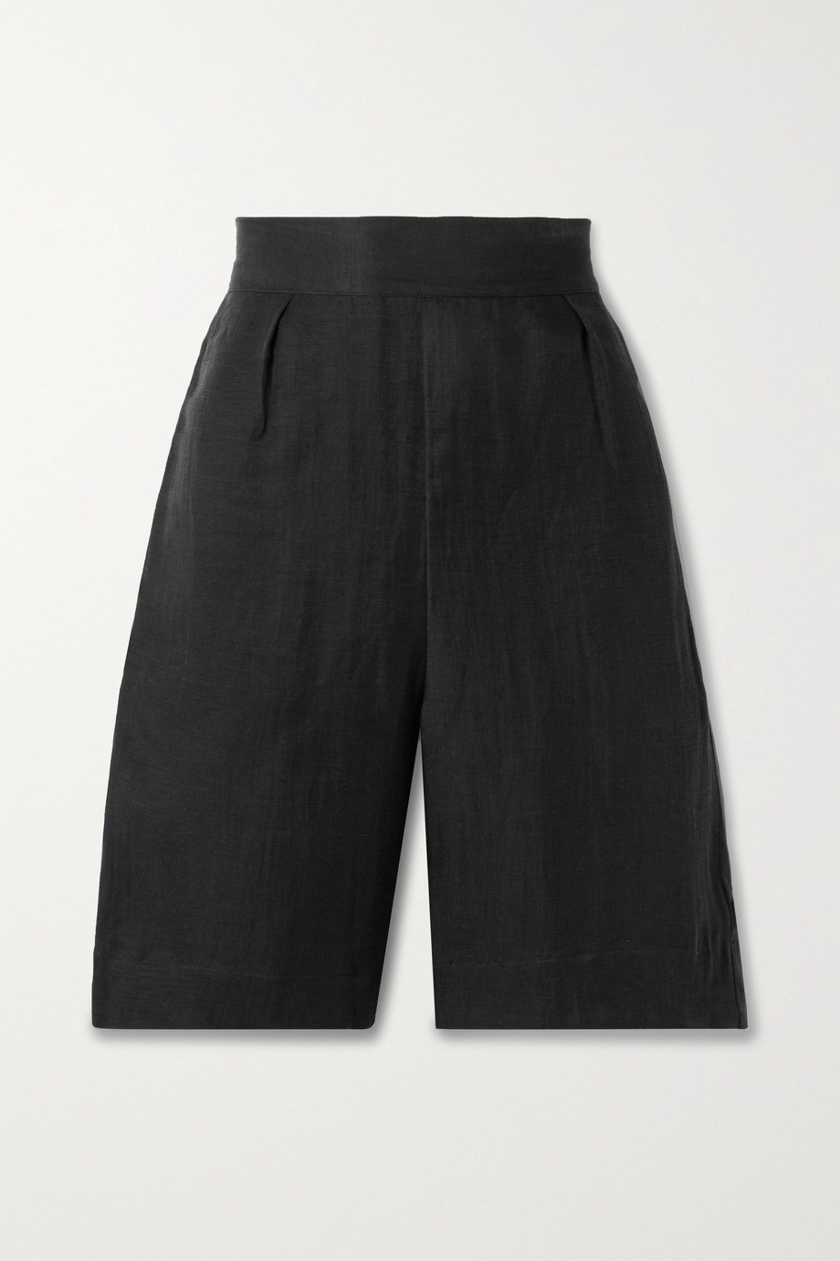 Anemos + NET SUSTAIN linen and cupro-blend shorts