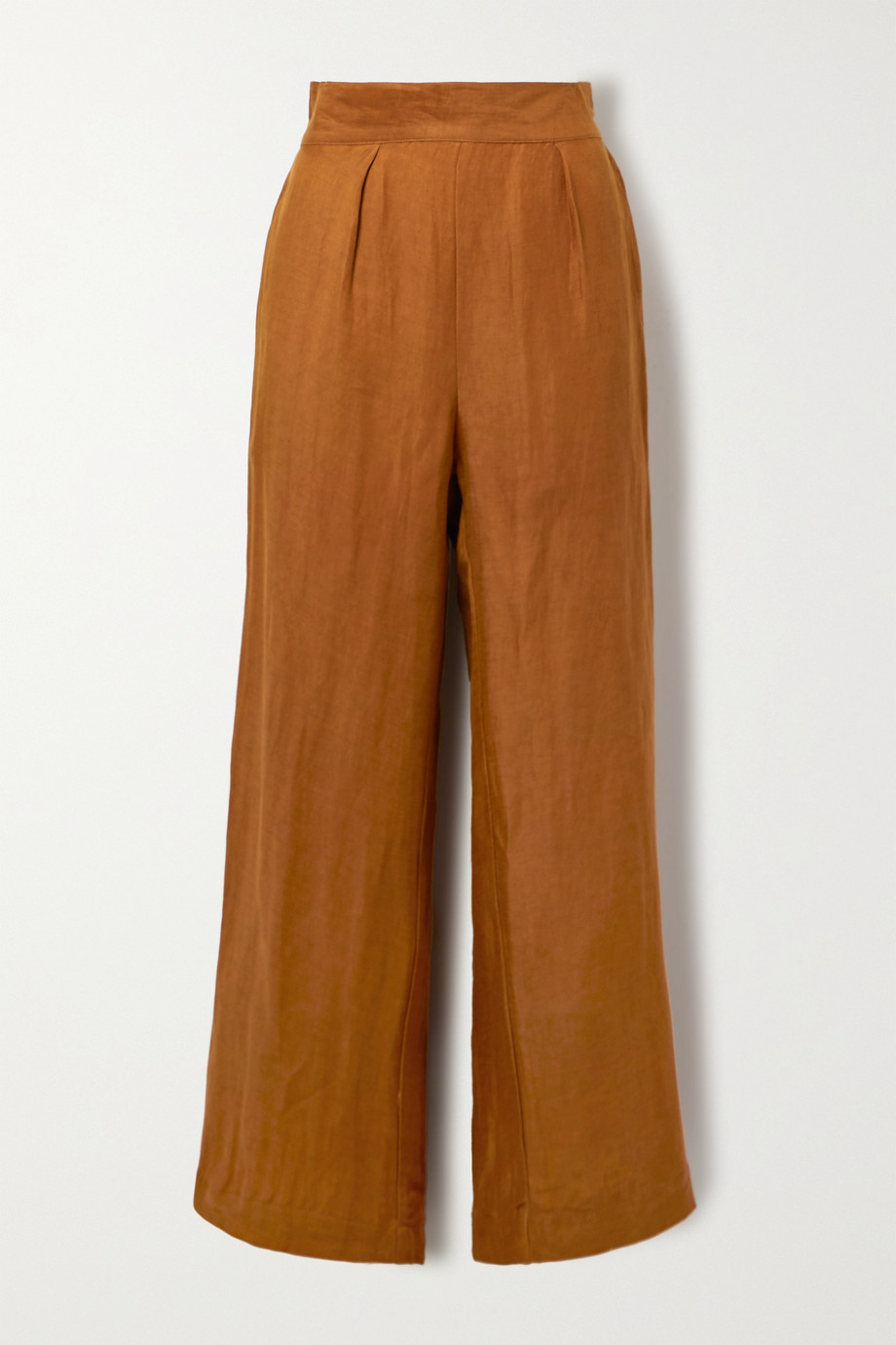 Anemos + NET SUSTAIN The Keaton linen and cupro-blend wide-leg pants