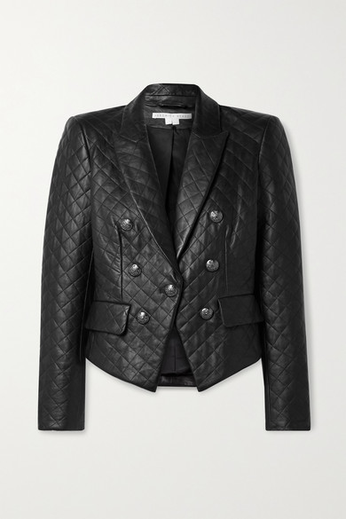 Veronica Beard COOKE DICKEY QUILTED LEATHER JACKET