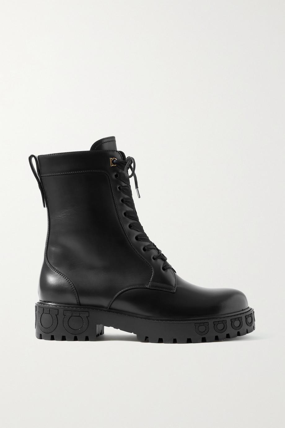 Salvatore Ferragamo Chopper leather ankle boots