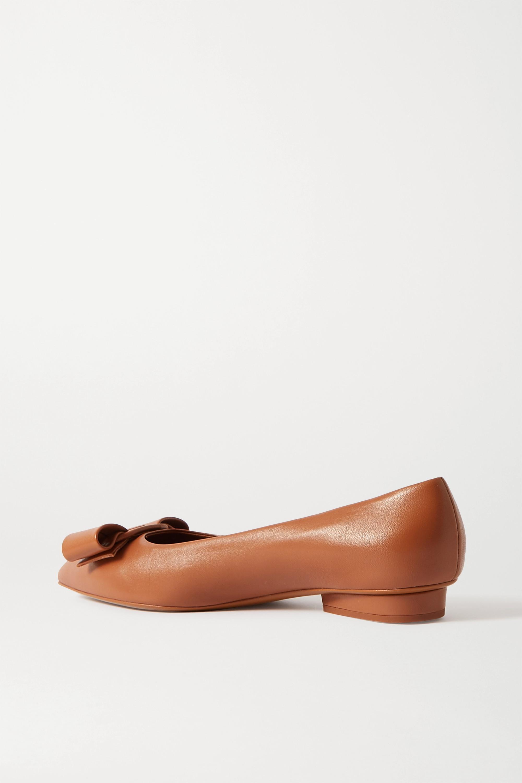 Salvatore Ferragamo Viva bow-embellished leather point-toe pumps