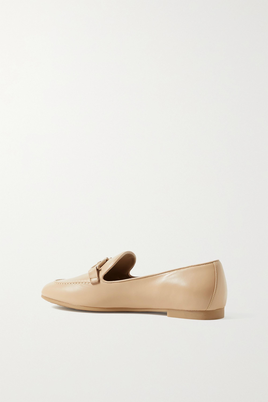 Salvatore Ferragamo Trifoglio embellished leather loafers
