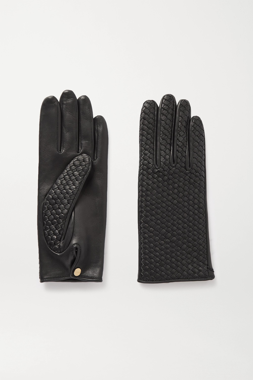 Agnelle Chloe woven leather gloves