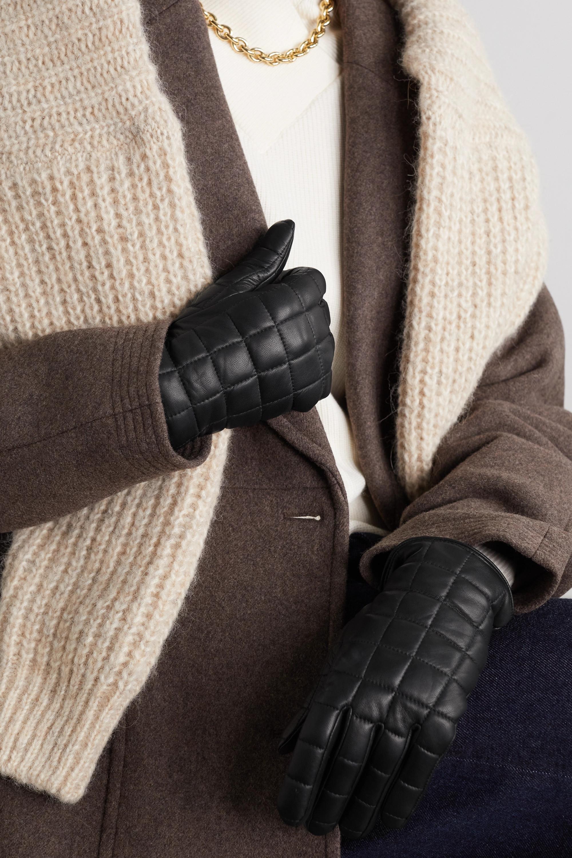 Agnelle Aceline Handschuhe aus gestepptem Leder