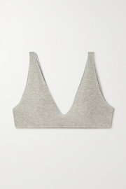 Baserange + NET SUSTAIN Pam ribbed stretch organic cotton soft-cup bra