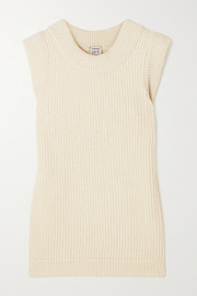 Baserange + NET SUSTAIN Tauro ribbed recycled wool and organic cotton-blend tank