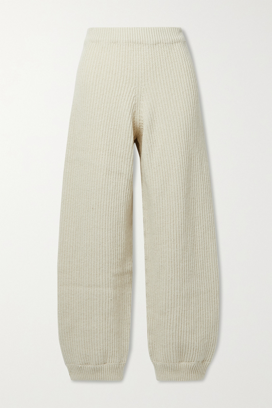 Baserange Tauro ribbed wool and organic cotton-blend track pants