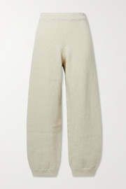 Baserange + NET SUSTAIN Tauro ribbed wool and organic cotton-blend track pants
