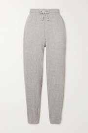Baserange Ribbed organic cotton-fleece track pants