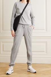 Baserange + NET SUSTAIN ribbed organic cotton-fleece track pants