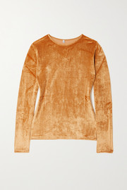 Baserange + NET SUSTAIN Omo modal-blend velour top