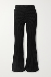 Baserange Macau ribbed organic cotton flared pants