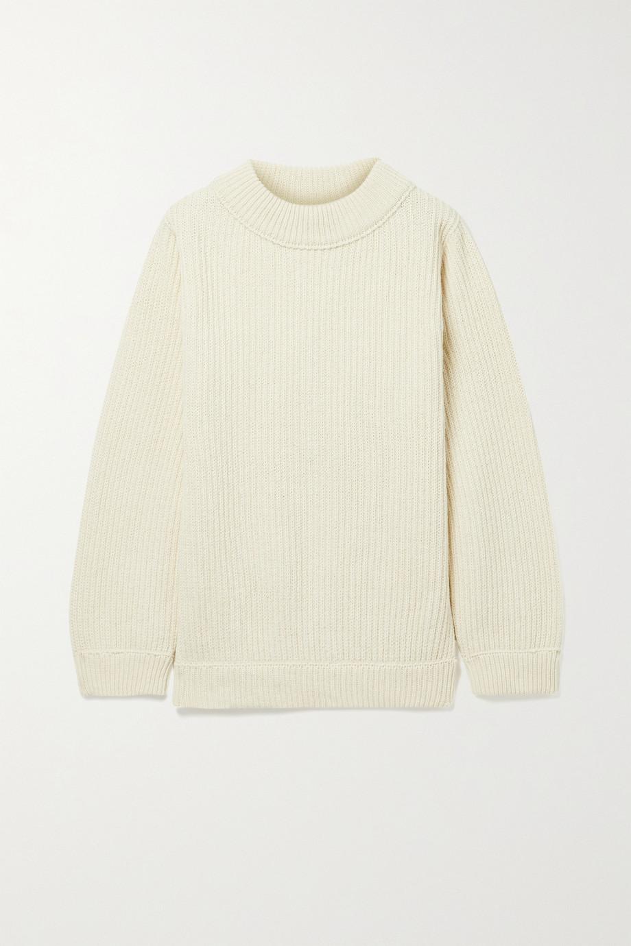 Baserange Tauro 罗纹回收羊毛有机棉质混纺毛衣