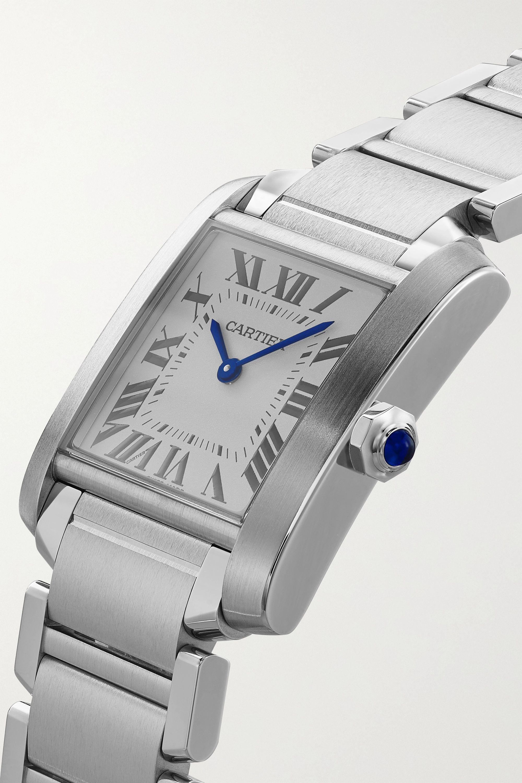 Cartier Tank Française 25 mm mittelgroße Uhr aus Edelstahl