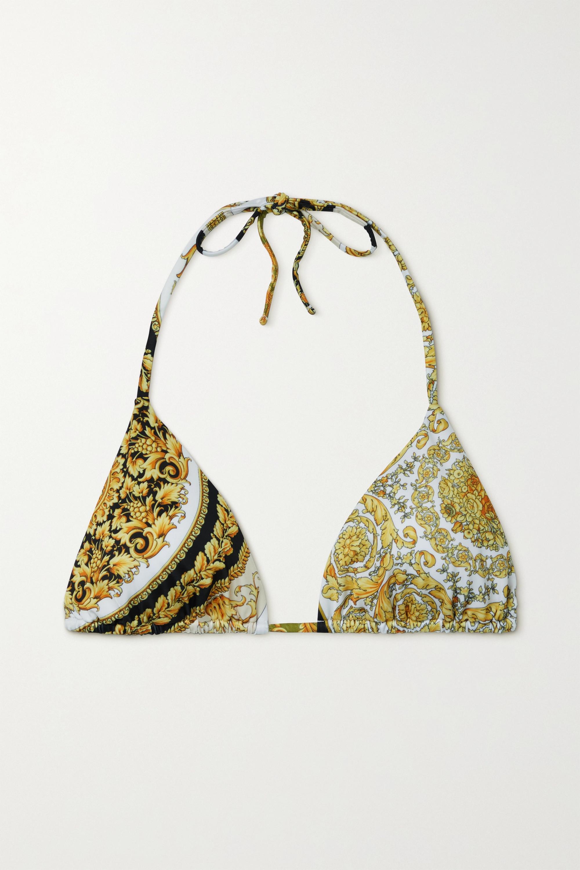 Versace Bedrucktes Triangel-Bikini-Oberteil