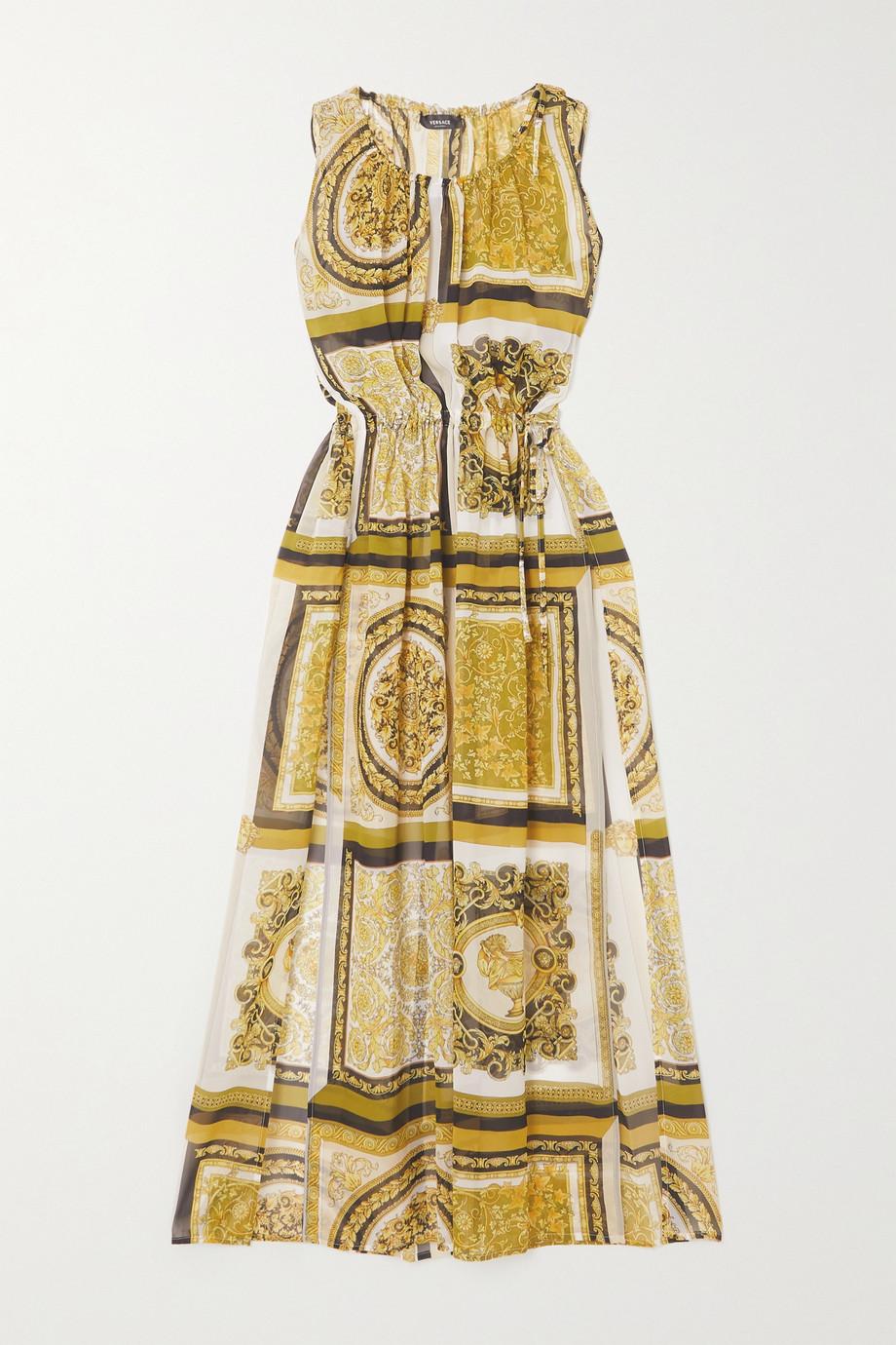 Versace Printed silk-georgette maxi dress