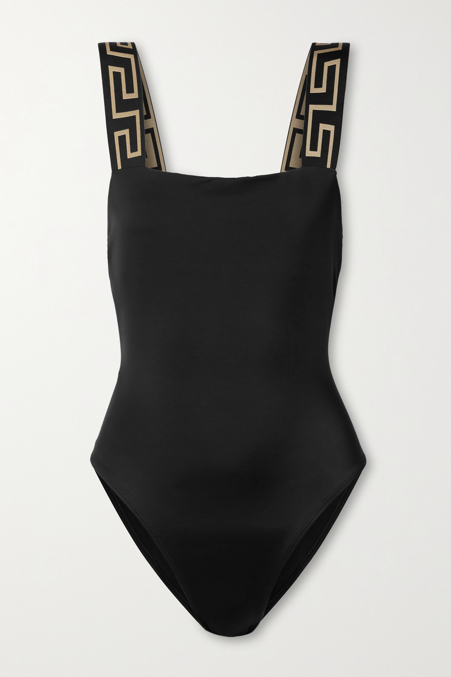 Versace Jacquard-trimmed swimsuit