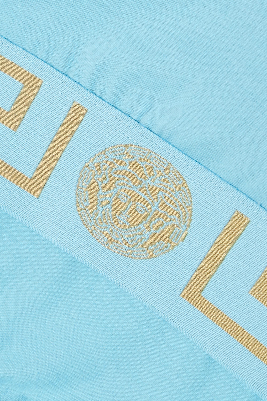 Versace Brassière en jersey de coton stretch à finitions en jacquard Greca