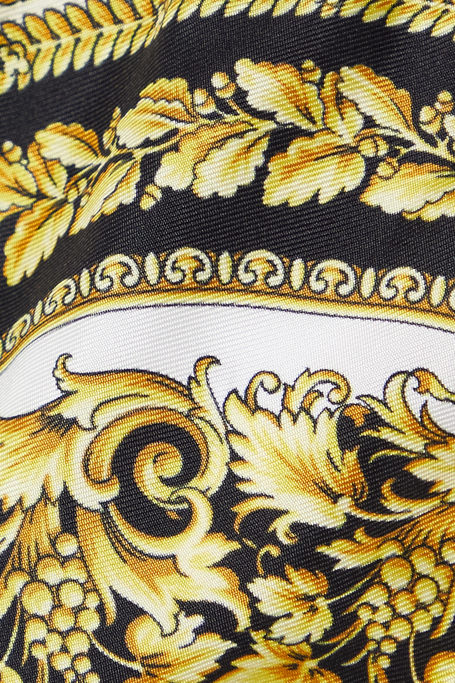 Versace Printed silk-twill thong