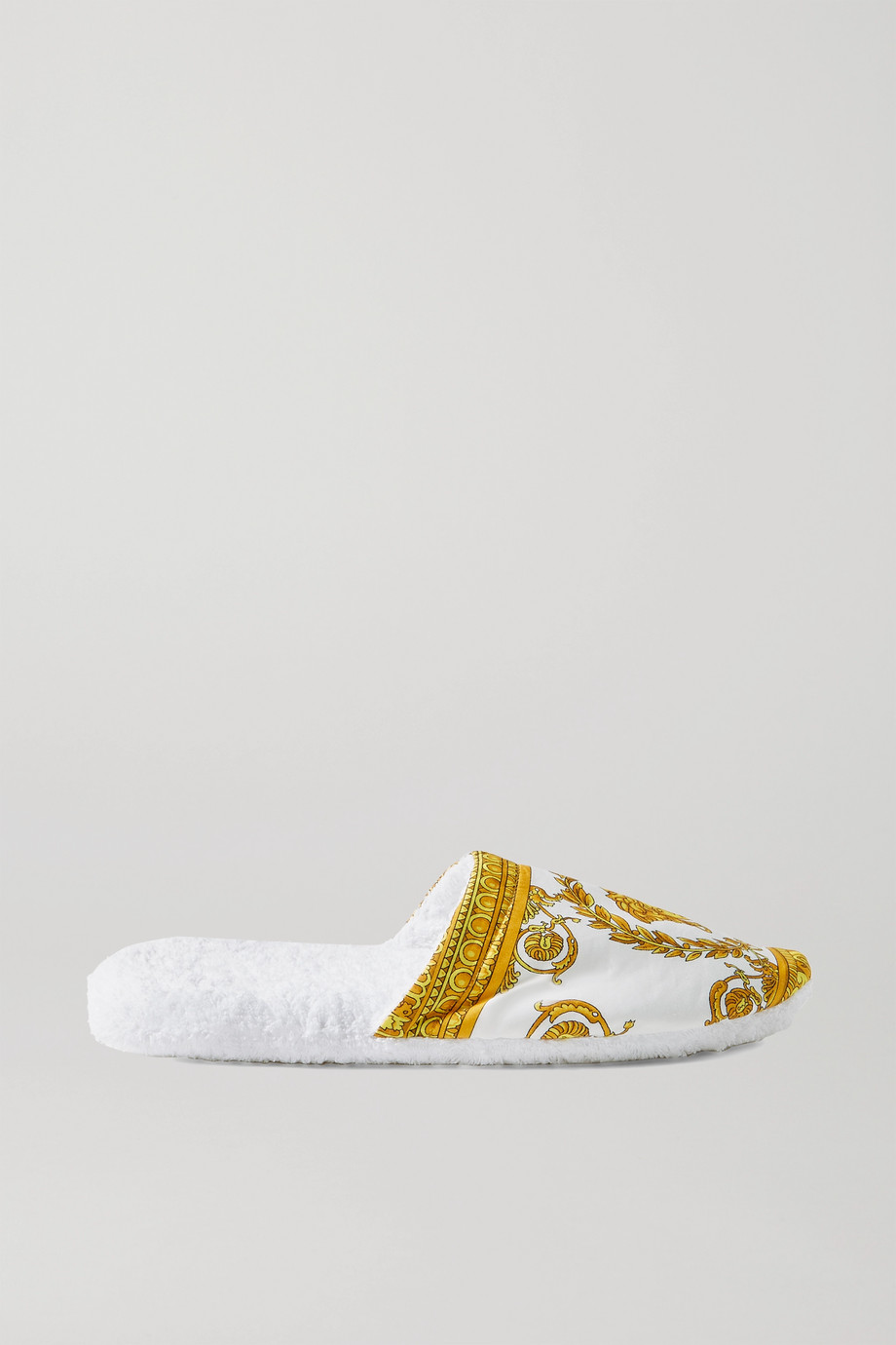 Versace Printed cotton slippers