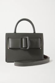 BOYY Bobby mini two-tone buckled leather tote