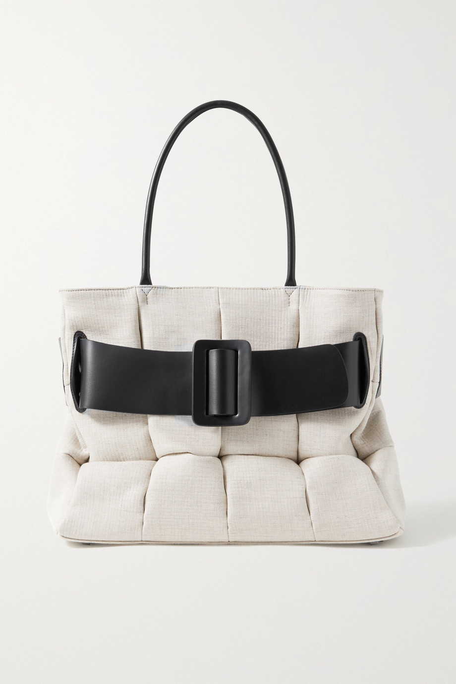 BOYY Bobby buckled leather-trimmed quilted cotton-canvas tote