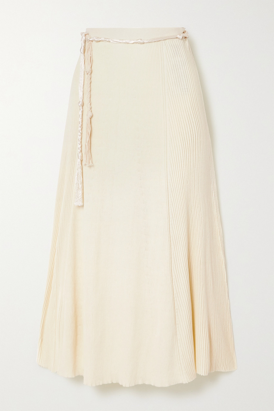 Jil Sander Ribbed cotton midi skirt