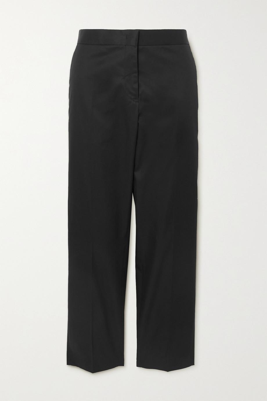 Jil Sander Cropped cotton-gabardine straight-leg pants