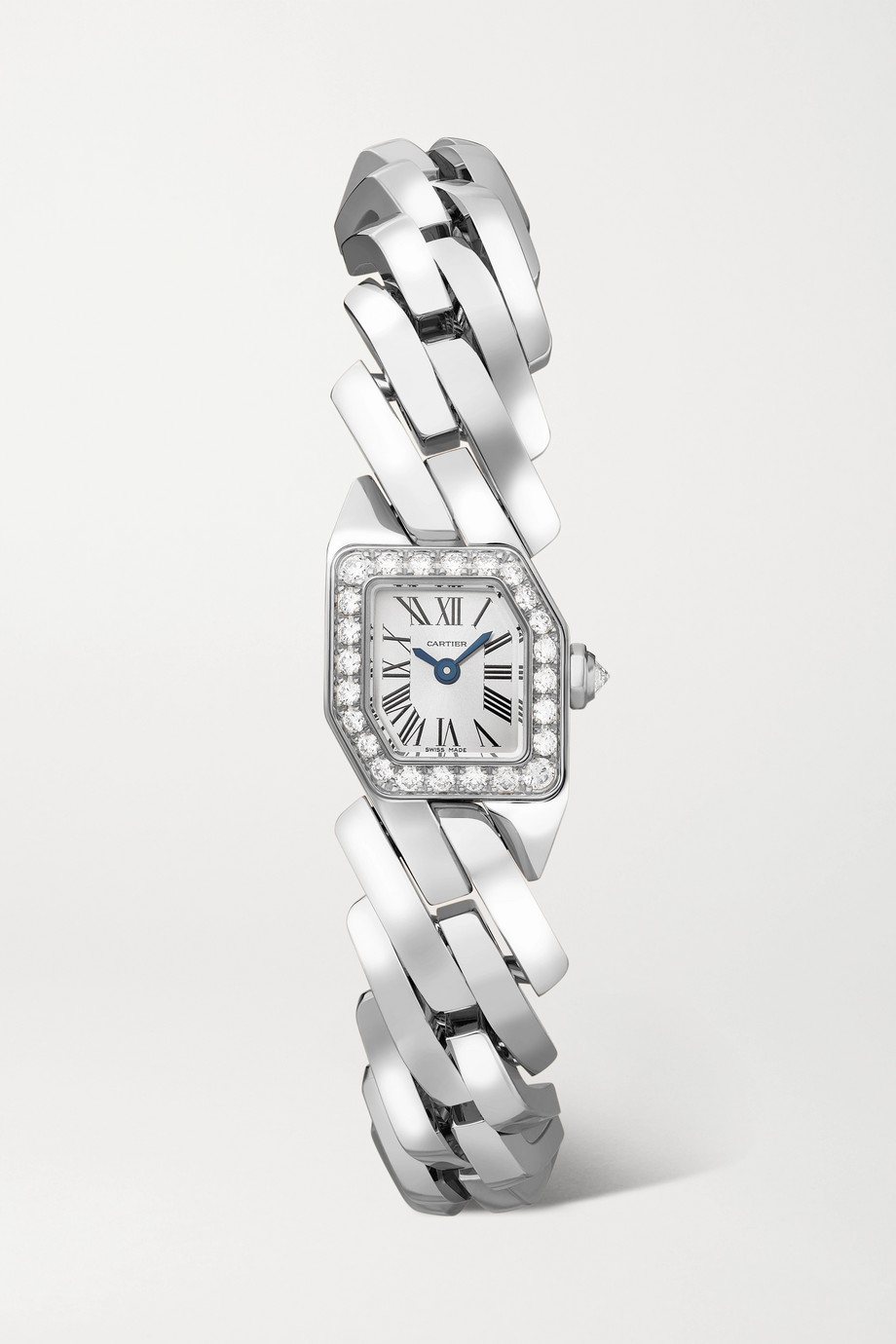 Cartier Maillon de Cartier 16mm 18-karat white gold diamond watch