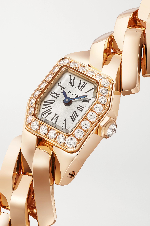Cartier Montre en or rose 18 carats (750/1000) et diamants Maillon de Cartier 16 mm